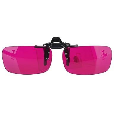Farbe steigernde Beschichtungs flippable Clip auf Gläsern für Rot ...
