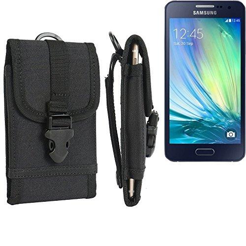 bolsa del cinturón / funda para Samsung Galaxy A3, negro | caja del teléfono cubierta protectora bolso - K-S-Trade (TM)