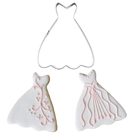 Basico Chica Vestido de Novia Forma de Acero Inoxidable Galletas Cortadores Molde Fondant Cake Cutter Cocina