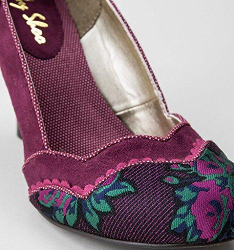 Granate Ruby Heller Imogen Zapatos Pflaumenfarbton Shoo Mujer 1xS6Bf