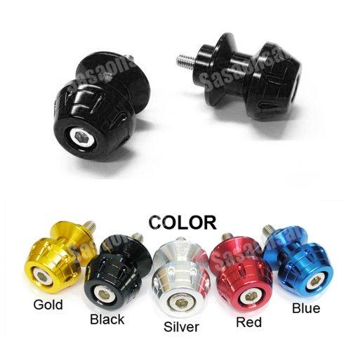 MIT Motors - BLACK - 10mm Universal Swingarm Spools - KAWASAKI ZX6R ZX6 636, ZX9R ZX9, ZX10R ZX10, ZX12R ZX12, ZX14R ZX14, ZZR 1200, 600, 900, Ninja 250, 650