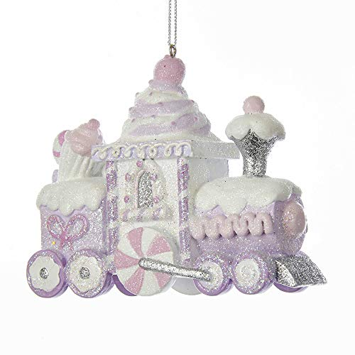 (Kurt Adler SUGAR PLUM GLITTERED CANDY AND CUPCAKE TRAIN ORNAMENT)