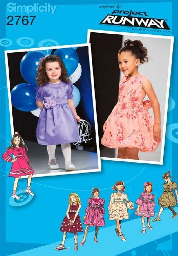Simplicity Sewing Pattern 2767 Toddler/Child Dresses, BB (4-5-6-7-8)