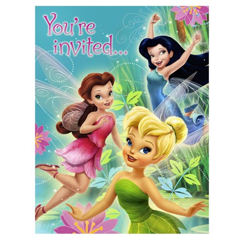 Tinker Bell and the Disney Fairies Invitations w/ Envelopes (Tinker Bell Theme Party)