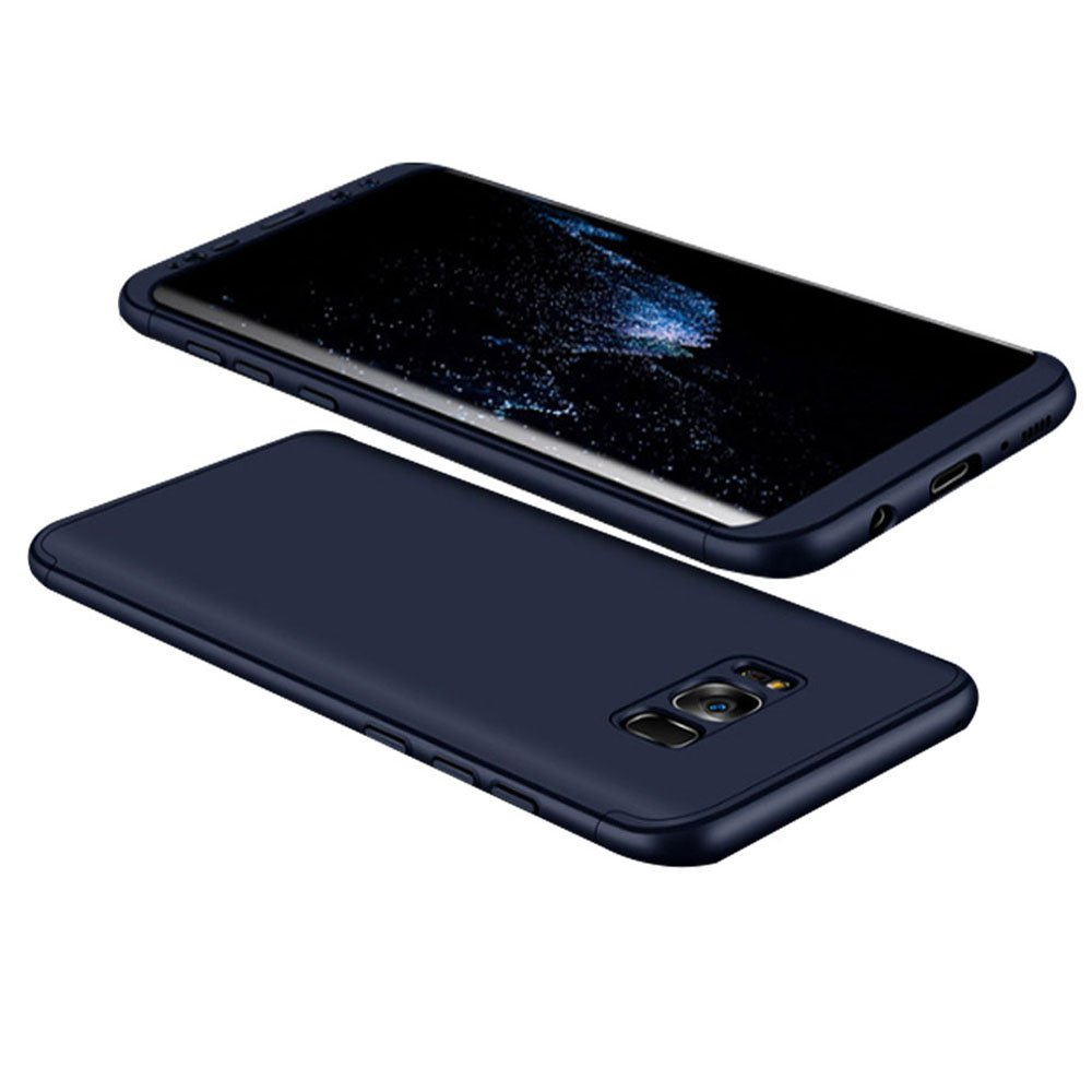 Giiyer Samsung Galaxy S8/S8 Plus Case 3 in 1 Hard PC Cover Case Soft Silicone Phone Case Protection Shock-Absorbing Grip Matte Phone Case For Samsung Galaxy S8/S8 Plus (Blue, Samsung Galaxy S8 Plus)