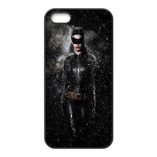 Catwoman1 coque iPhone 4 4S cellulaire cas coque de téléphone cas téléphone cellulaire noir couvercle EEEXLKNBC24076