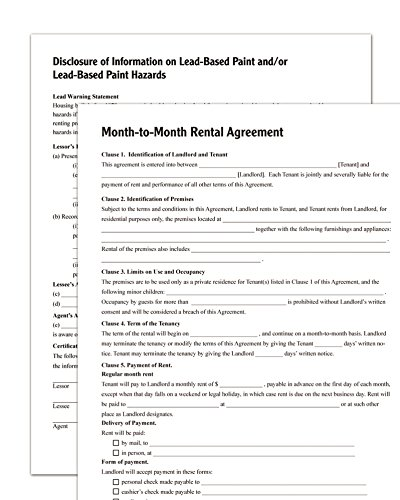 amazoncom adams month to month rental agreement forms and instructions lf255 legal forms office products - Month To Month Rental Agreement Form