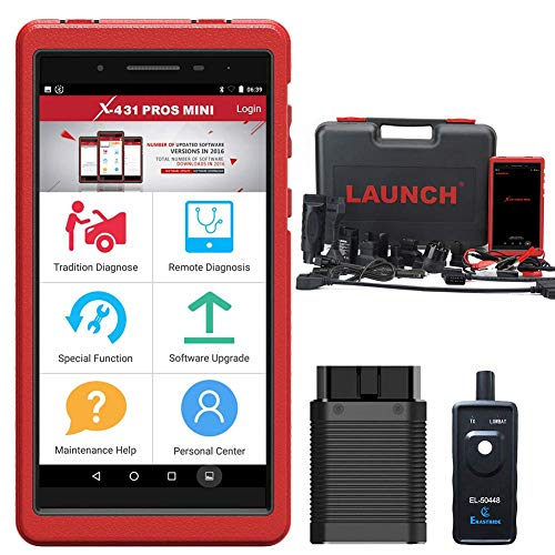 LAUNCH X431 PROS Mini Scanner Bi-Directional Full System Automotive Diagnostic Scan Tool Code Reader IMMO Injector ECU Coding TPMS ABS Bleeding with WiFi Bluetooth 2Years Free Update