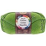 Lion Brand Yarn 761-172 24-7 Cotton Yarn, Grass: more info