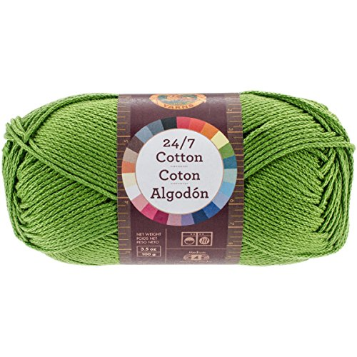 Lion Brand Yarn 761-172 24-7 Cotton Yarn, Grass - Lion Brand Cotton Yarn