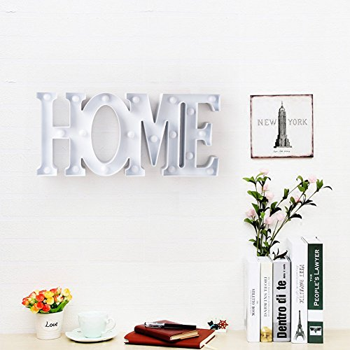 """Led Sign Home Decor: BRIGHT ZEAL Decorative LED Marquee Sign HOME (15.5"""" X 7.5"""