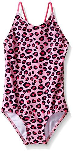 Pink Cheetah Print (Kanu Surf Big Girls Shannon Leopard Print One Piece Swimsuit, Shannon Pink Leopard,)