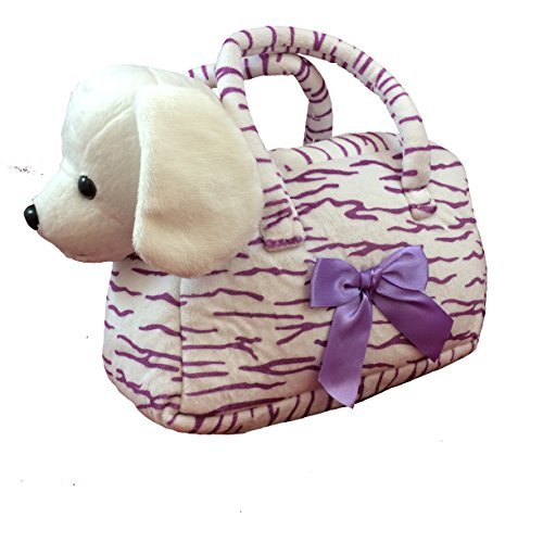 Plush Puppy Dog with Carrier