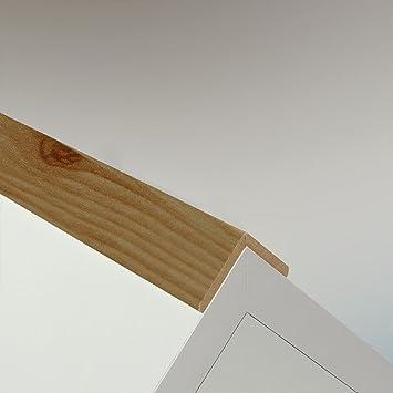 Winkelleiste Schutzwinkel Winkelprofil Tapeten-Eckleiste Abschlussleiste Abdeckleiste aus Kiefer-Massivholz 2400 x 22 x 22 mm