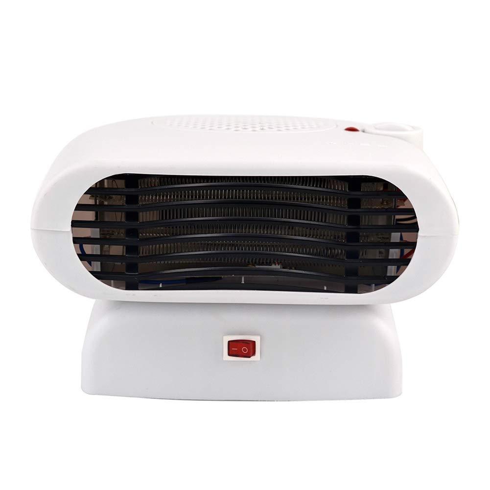 HZJA Temperatur Heizung, Stumme Tragbare Elektrische Lüfterheizung, Sicherheitsschutz Nach Hause/Büro Heizung Weiß Kalt/Heißer Ventilator