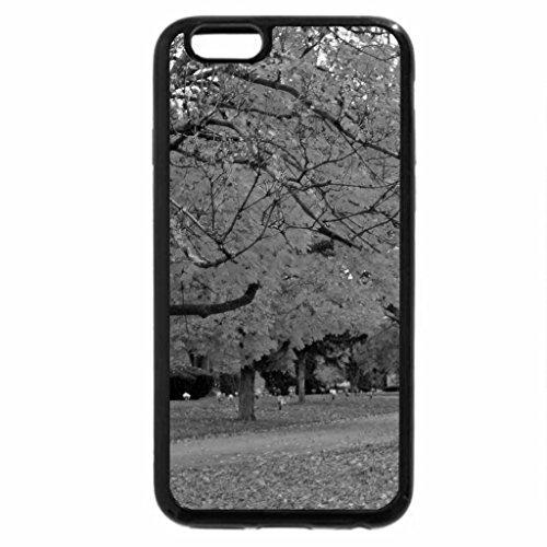 iPhone 6S Plus Case, iPhone 6 Plus Case (Black & White) - Autumn Row