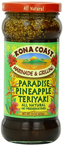 (Pack of 3) Kona Coast Paradise Pineapple Teriyaki Sauce, 15 Ounce ea