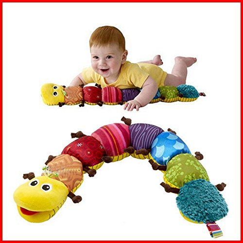 Venxic Colorful Soft Plush Cute Musical Caterpillar Toys with Scale 23.5