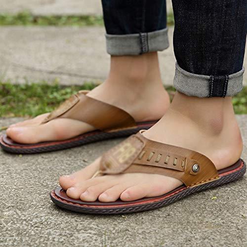 Cómodos Brown Sintética Hombres Zapatos Al De Sandalias Playa Yv6bf7gy
