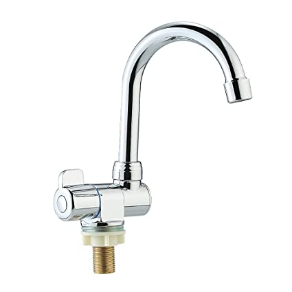 Decdeal Deck/Wall Mounted Rotating RV Faucet Kitchen Faucet for Camper  Recreational Vehicle Motorhome Travel Trailer