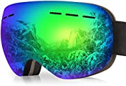 arteesol Ski Goggles, UV Protection Ski Sunglasses Anti-Fog Snow Goggles