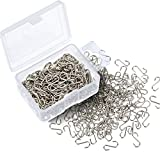 Shappy 200 Pieces 0.55 Inch Mini S Hooks Connectors S-shaped Wire Hook with Storage Box for DIY Crafts, Hanging Jewelry, Key Chain, Tags