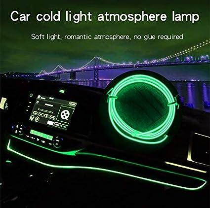 Flessibile El Filo Neon LED Decorazione Auto Tubo Corda Leggera YMMY Car Trim Strip Linea,5M Fai da Te Car Styling Interni modanature Decorazione