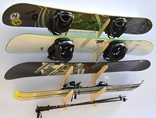 Snowboard Ski Hanging Wall Rack -- Holds 4 Boards by Pro Board Racks