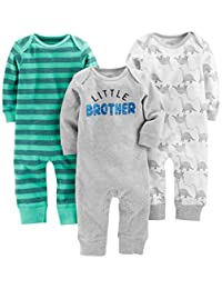 Simple Joys by Carter's baby-boys 3-Pack Jumpsuits Romper