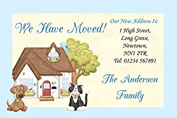 Dog and cat new home change of address moving house cards amazon dog and cat new home change of address moving house cards m4hsunfo