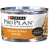 Purina Pro Plan Wet Cat Food, Savor, Adult Chicken and Rice Entrée, 3-Ounce Can, Pack of  24