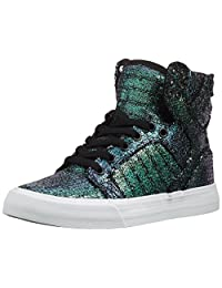 Supra Womens Skytop Black Sequin Skate Shoes