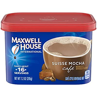 International Coffee Suisse Mocha Cafe, 7.2-Ounce Cans (Pack of 4) from MAXWELL HOUSE.