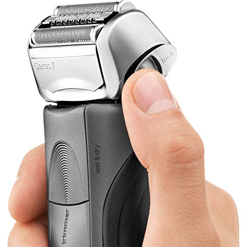 Braun Series 7 7865cc Men's Electric Foil Shaver / Electric Razor, Wet & Dry, Travel Case with Clean & Charge System, Premium Grey Cordless  Razor, Razors, Shavers, & Pop Up Trimmer by Braun (Image #5)