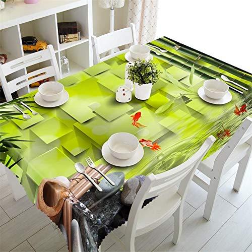 SnowFig Mantel 3D Material de Lino de Terciopelo de Bambú Verde ...