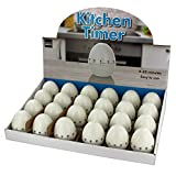 123-Wholesale - Set of 24 Egg Shape Kitchen Timer Countertop Display - Kitchen & Dining Kitchen Tools & Utensils