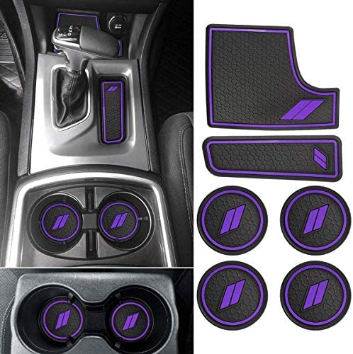 Auovo 24pcs for Charger Accessories 2015 2016 2017 2018 2019 2020 2021 Anti-dust Car Cup Holder Inserts,Center Console Liner Mats,Door Pocket Liner Mat Premium Custom Interior (Purple)