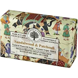 Wavertree & London Sandalwood & Patchouli luxury soap (1 bar)