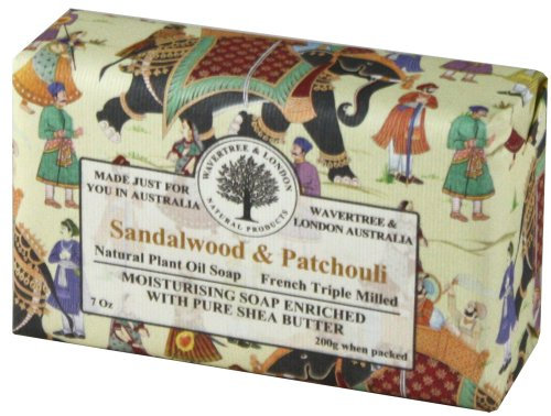 Wavertree & London Sandalwood & Patchouli luxury soap (1 bar)