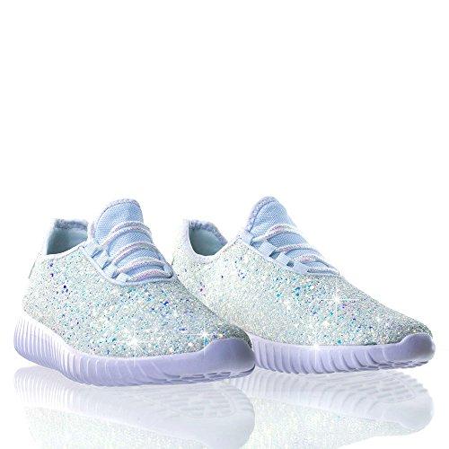 Blanco Mujer Nbsp;purpurina Zapatillas Brillante Forever Sneakers 18 zxwHRcCXqf