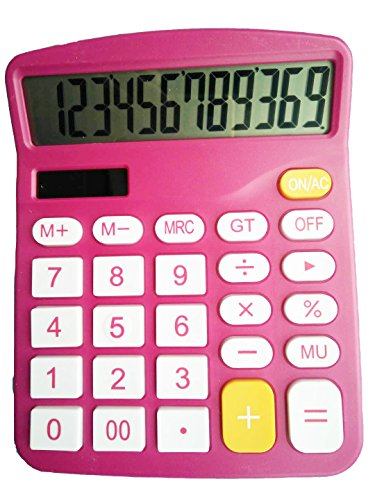 Calculator, Hi-Tech Electronic Desktop Calculator with 12 Digit Large Display, Solar Power LCD Display Office Calculator ()