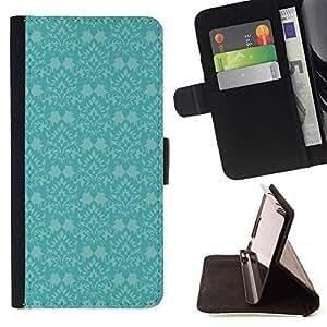 For Samsung Galaxy Note 5 5th N9200 Case , Azul retro del papel pintado Viejo- la tarjeta de Crédito Slots PU Funda de cuero Monedero caso cubierta de piel