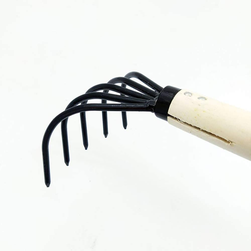 Rastrillo de mano port/átil herramienta de excavaci/ón mini rastrillo de acero para la herramienta de trasplante de jard/ín