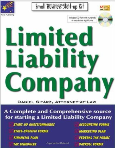 Limited Liability Company: Small Business Start-Up Kit (Small Business Made Simple) pdf epub