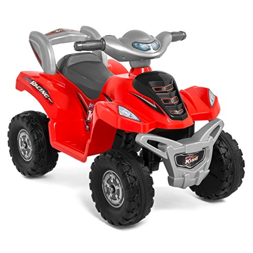 Best Choice Products Kids ATV 6V Toy Quad Battery Power Electric with 4 Wheel Power Bicycle, Red