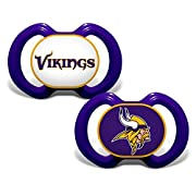 Baby Fanatic 2 Piece Pacifier Set, Minnesota Vikings