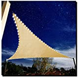 diig Sail Umbrella Light System,Sun Shade Sail Light 3 PCS Combe, 33 ft Long 100 PCS LED Lights String are Set on 12′x12′x12′ Triangle Sunshade Sail, for Decorating Outdoor Garden Yard Patio Pool