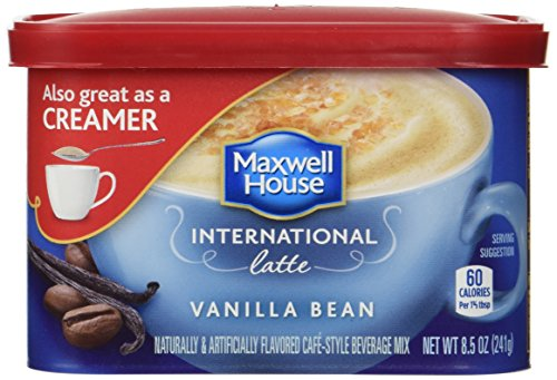 Maxwell House International Coffee Vanilla Bean Latte, 8.5 oz (Pack of 4)