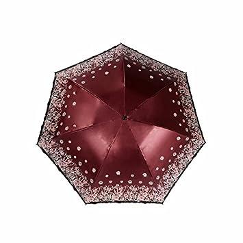 Paraguas Sombrillas Paraguas Tres Mujeres - De Doble Uso Uv Sombrilla Portable Ultra Light Pencil Umbrella