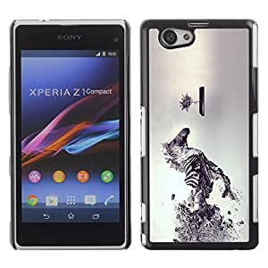 TECHCASE**Cubierta de la caja de protección la piel dura para el ** Sony Xperia Z1 Compact D5503 ** Sci Fi Zebra